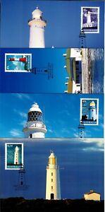 2002 Australia Lighthouses #2047-50 FDC Postcards Set Unposted Fresh