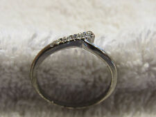 WOMAN'S DIAMOND RING 4 SMALL DIAMONDS COOL L@@K!! BARGAIN!!