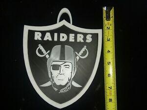 "New  Las Vegas Raiders Sheild 3D Fan Logo  / Wall Sign ""3d printed, 3d graphics"