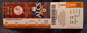 2010 MLB ALCS Ticket Stub Rangers @ Yankees Cliff Lee 13 Ks Tex Won 8-0