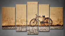 Framed Wall Art Old Vintage Bicycle Painting Pictures Canvas Print Picture Decor