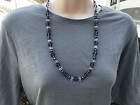 Handmade Necklace of Light Purple and Clear Czech Glass Beads with Purple Pearls