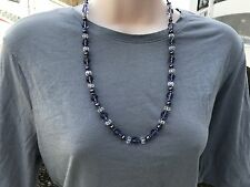HDMD by Cyndi Necklace of Light Purple and Clear Czech Glass w/ Purple Pearls