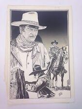 Original Art of John Wayne by Mario DeMarco