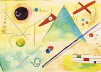V.Kandinsky - HUGE A1 size 59.4x84cm QUALITY Decor Canvas Print Poster Unframed