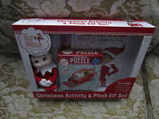The Elf on the Shelf Christmas Activity & Plush Elf Set NEW book puzzle 2004