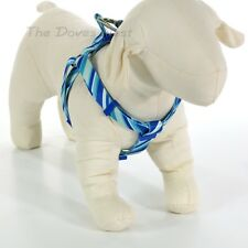 "TOP PAW Male Dog LARGE STEP-IN DOG HARNESS Angled BLUE STRIPES Girth 24"" - 36"""