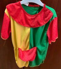 Kinder Mädchen Kostüm Kleid + Perücke Pippi Langstrumpf * Größe S 4-6 Jahre *NEU