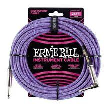 Ernie Ball p06069 tissé Instrument Câble de guitare Violet/Bleu 7.6m