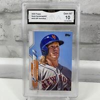 2020 Topps Series 2 Noah Syndergaard Photo Variation SP #433 Mets GMA Gem MT 10