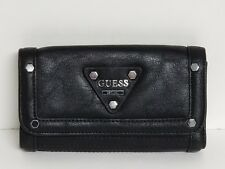 Guess Presley Dove Gray or Black Medium Checkbook Wallet NWT