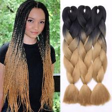 "1-5Bundles Jumbo Braiding Hair Extension 24"" Ombre Kanekalon Box Braid Any style"