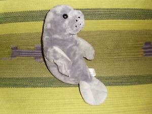 "Manatee gray plush soft toy stuffed Animal Alley Toys R Us 13"""