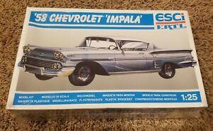 ESCi ERTL '58 Chevrolet Impala 1/25 Scale Plastic Model Kit #3506 SEALED