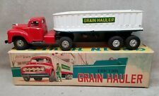 Vintage Tin Friction Toy Grain Truck Japan in Original Box.