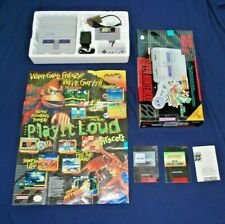 1995 Super Nintendo System with Box Complete tested Works Poster Mario All stars
