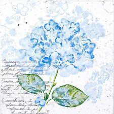 4x Paper Napkins for Decoupage Decopatch Craft Hortensia Blue