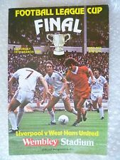 1981 League Cup FINAL Liverpool v west Ham United, 14th March