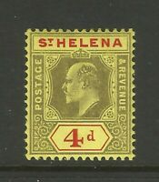 St Helena 4d Edward VII MM Mint Stamp Great Condition Old Collection