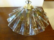 Lampadario luce lampada in vetro di Murano La Murrina anni 70 vintage d'epoca