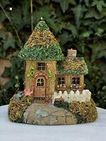 Miniature Dollhouse FAIRY GARDEN Gnome ~ MINI Village Cottage House with Moss