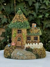 Miniature Dollhouse Fairy Garden Gnome ~ Mini Village Cottage House with Moss