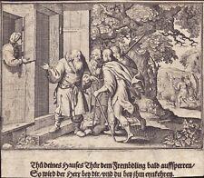 Werke der Barmherzigkeit Heiligenbild Andachtsbild Kupferstich (Flo-5004