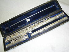 WILLIAM S. HAYNES HANDMADE FLUTE DRAWN TONE HOLES PLATEAU MODEL OFFSET G -1966