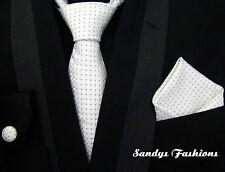 CONVENIENTE TOP Cravatta Di Seta Set Fazzoletto da taschino Bottoni gemelli