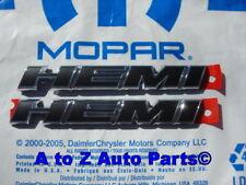 2011-2014 Dodge Challenger R/T HEMI Hood Emblems Charger Fender Emblems, Mopar