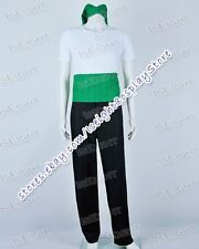 One Piece Roronoa Zoro White Green Male Uniform Cosplay Costume High Quality