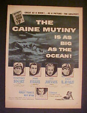 MOVIE AD>BOGART~THE CAINE MUTINY is as BIG as the OCEAN