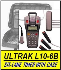 Six-Lane ULTRAK L10+CASE6B Printing Timer with 6 Lane Buttons and Carrying Case