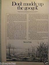 "1971 Sierra Club Don't Muddy Up The Googol-8.5 x 10.5"" Original Print Ad"