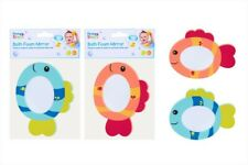 First Steps Baby Bath Foam Mirror Floating Colourful Fish Bath Time Fun Toy Gift