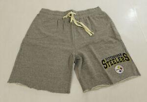 Pittsburgh Steelers Men's NFL Raw Hem Sleep Shorts SV3 Gray Size XL NWT