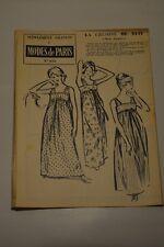 """"""" MODES de PARIS """" PATRON SUPPL. DU N°611 // LA CHEMISE DE NUIT TAILLE 44"""