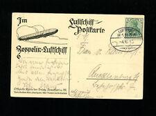 Zeppelin Sieger 6 II 1913 Hansa Pioneer Zep Flight  on DELAG Zep Card