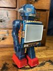 JC25 Rare Space Scout Horikawa S.H Tin Robot 60's Vintage Japan Working