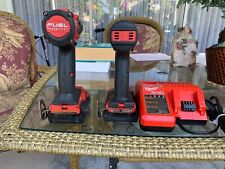 Milwaukee Fuel 1/2 Hammer Drill 2804-20.1/4Hex Impact2Battery charge.