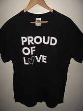 Gay Pride Tee - GrubHub Proud Of Love LGBT Lesbian Rainbow Parade T Shirt Large