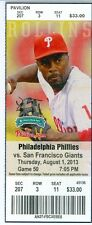 2013 Phillies vs Giants Ticket: Giants rally for 2 runs in 9th against Papelbon