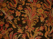 2 Incredible Marvic Textiles 4557 Astor in Walnut Paisley Floral Velvet Fabric