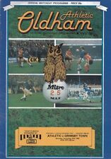 Oldham Athletic v Grimsby Town November 27th 1982 - Official Matchday Programme