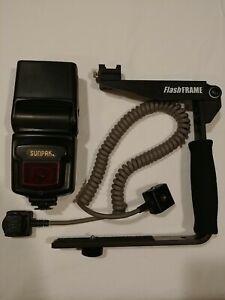 Flash Package - Sunpak MZ440AF-NE - Nikon SC-17 - Pro-grip FlashFrame
