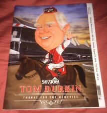 2014 Tom Durkin Final Race Program, Saratoga Course, Horse Track, Spinaway