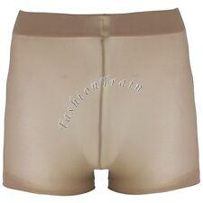 Sexy Men Mesh Sheer Penis Sheath Boxer Brief Shorts Pantyhose Underwear Lingerie
