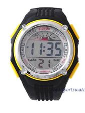 Men Boys Sports Digital Watch Alarm Date Day Watchlight Stopwatch Plastic Yellow