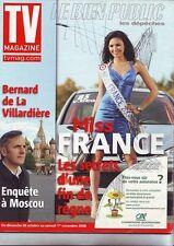 tv magazine - 1660  -  novembre 2008  - couverture miss france 2008