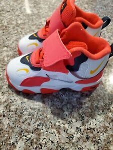 NIB New Nike BV2525-102 Speed Turf Sneakers Toddler Shoes White Laser Orange 8C
